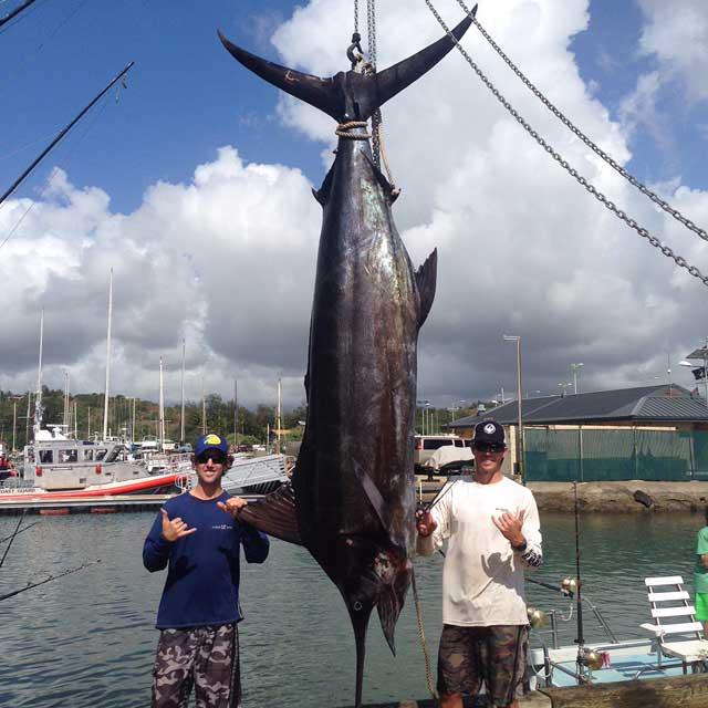 Kauai fishing charter boat