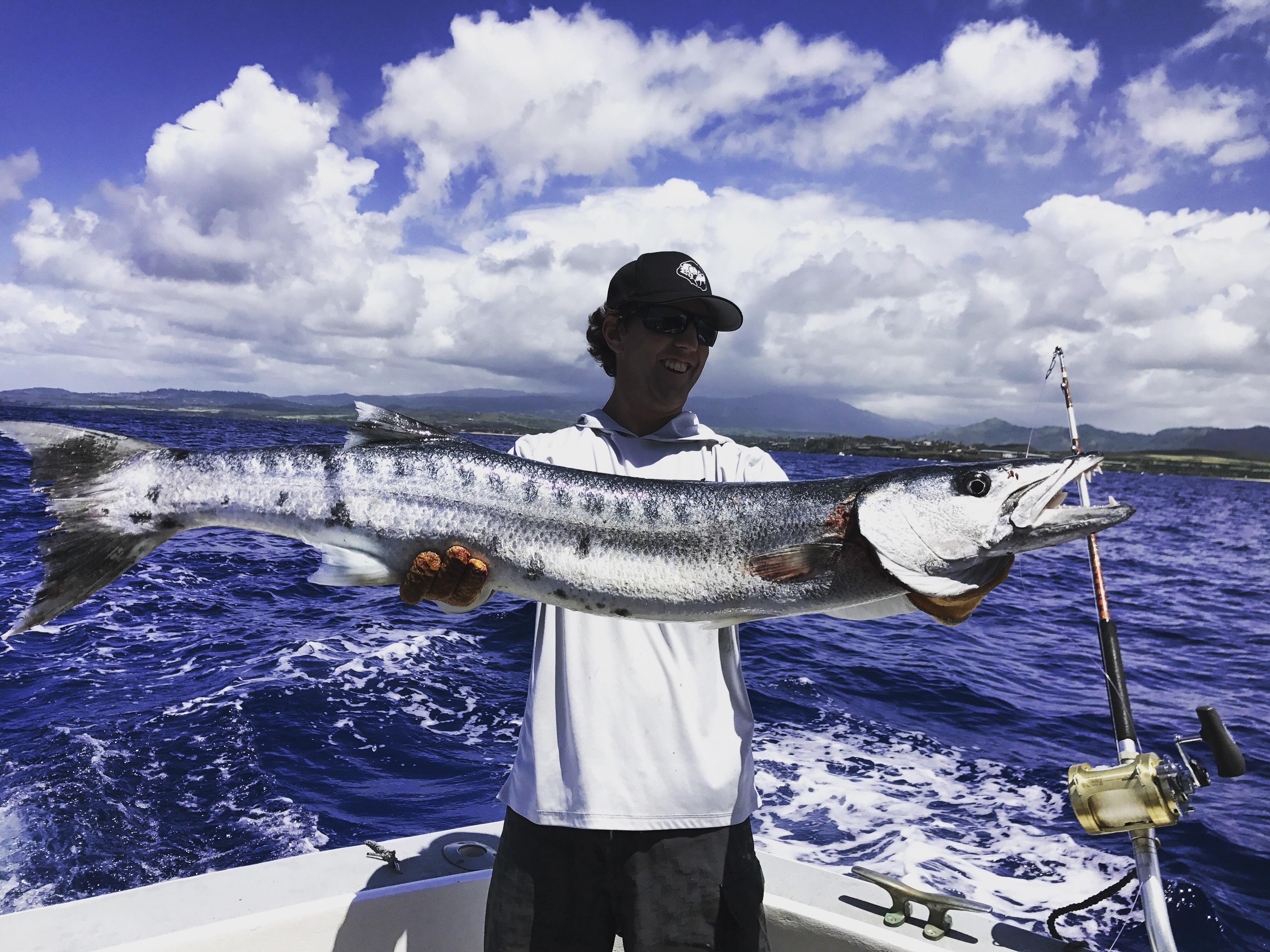 Kauai sportfishing charter boat deep sea fishing for Fishing in kauai